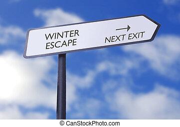zima, ucieczka