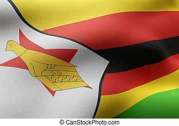 Zimbabwe 3d flag