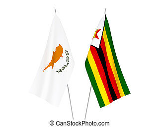 Zimbabwe and Cyprus flags - National fabric flags of ...