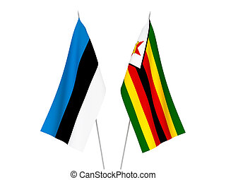 Zimbabwe and Estonia flags - National fabric flags of ...