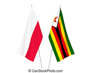 Zimbabwe and Poland flags - National fabric flags of ...