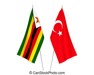 Zimbabwe and Turkey flags - National fabric flags of ...