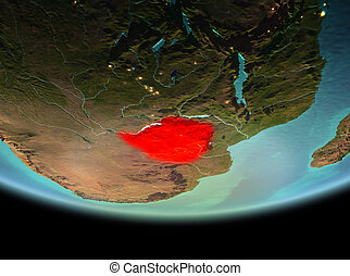 Zimbabwe at night on Earth
