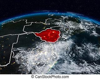 Zimbabwe at night