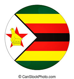 Zimbabwe button with flag - Abstract illustration: button ...