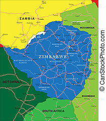 zimbabwe, carte