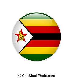 Zimbabwe flag on button