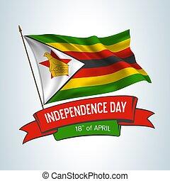 Zimbabwe independence day greeting card, banner, horizontal ...