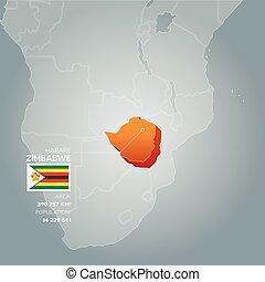 Zimbabwe information map.