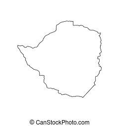 Zimbabwe map silhouette