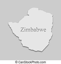 zimbabwe, mapa