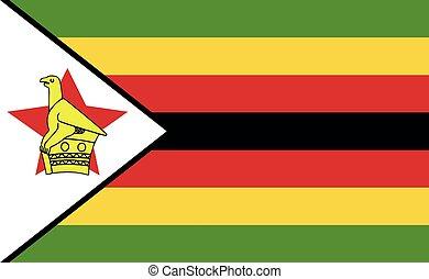Zimbabwe national flag in exact proportions - Vector ...