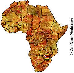 zimbabwe old map