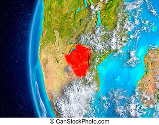 Zimbabwe on Earth from space