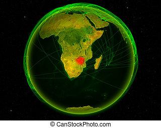 Zimbabwe on Earth with network