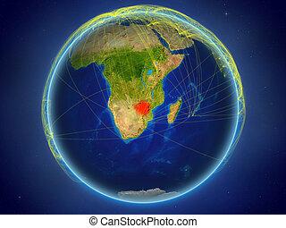 Zimbabwe on Earth with networks