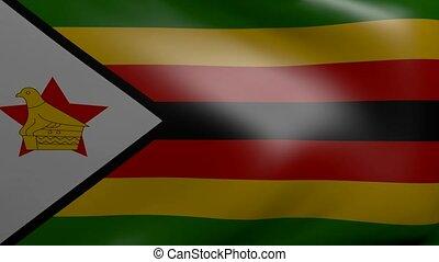 zimbabwe strong wind flag