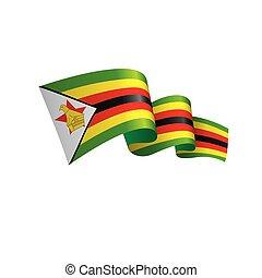zimbabwe, vector, bandera, ilustración