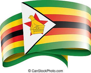 zimbabwe, vettore, bandiera, sfondo bianco, illustrazione