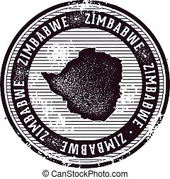 Zimbabwe Vintage Country Stamp for Tourism