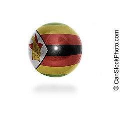 Zimbabwean Ball - Flag of Zimbabwe on the ball isolated on ...