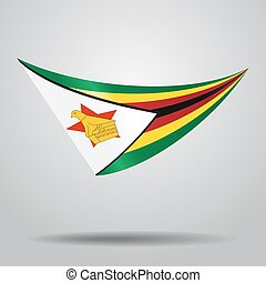 Zimbabwean flag background. Vector illustration. - ...