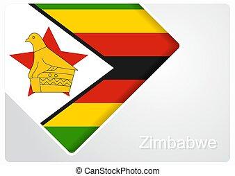 Zimbabwean flag design background. Vector illustration. - ...