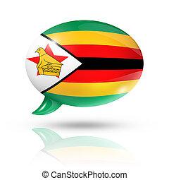 Zimbabwean flag speech bubble - three dimensional Zimbabwe ...