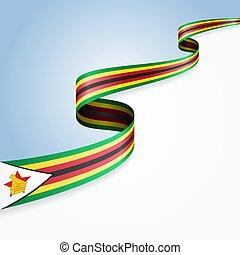 Zimbabwean flag wavy abstract background. Vector ...