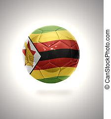 Zimbabwean Football - Football ball with the national flag ...