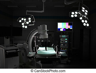 zimmer, medizin, modern, anästhesiologie, maschine, ...