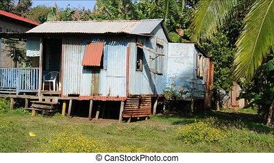 zinc house Corn Island Nicaragua - typical zinc sheet metal...