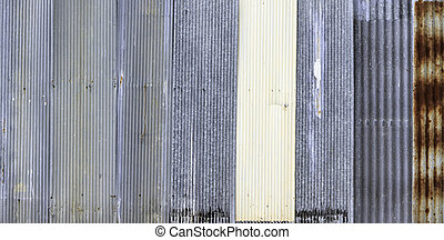 """Zinc"" old rusty metal wall background"