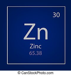 Zinc Zn chemical element icon- vector illustration