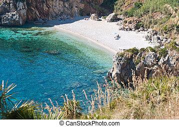 zingaro, italia, reserva, sicilia, natural