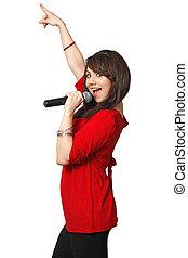 zinger, karaoke, vrouwlijk