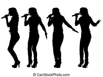 zinger, vrouwen