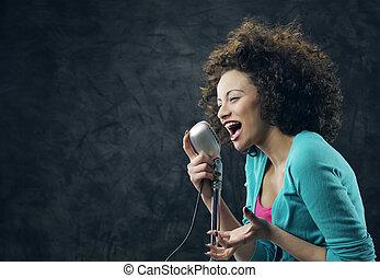 zinger, vrouwlijk