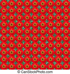 Zinnia seamless composable pattern