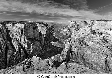 Zion Canyon From Observation Point - View from Observation ...