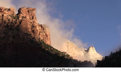 Zion National Park Fall Sunrise - a beautiful fall sunrise...