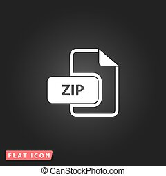 ZIP archive file extension icon vector.