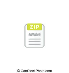 Zip archive file icon