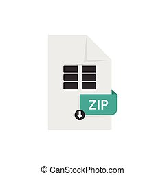 ZIP document download file format vector