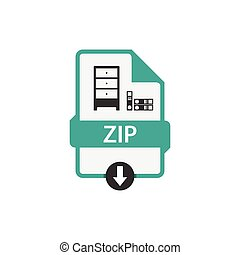 ZIP document download file vector