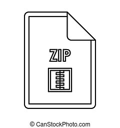 ZIP file archive icon, outline style
