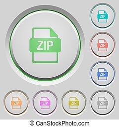 ZIP file format push buttons
