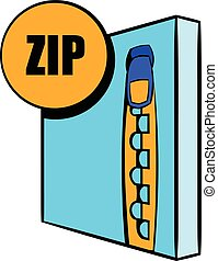 ZIP file icon cartoon
