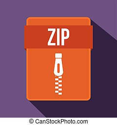 ZIP file icon, flat style