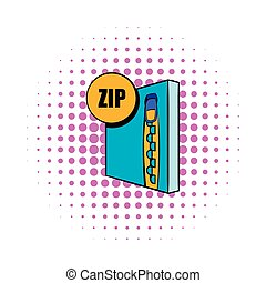 ZIP file icon in comics style